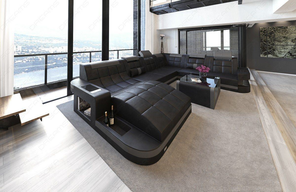 xxl wohnlandschaft wave leder wohnlandschaft leder wohnlandschaften sofas und couches. Black Bedroom Furniture Sets. Home Design Ideas