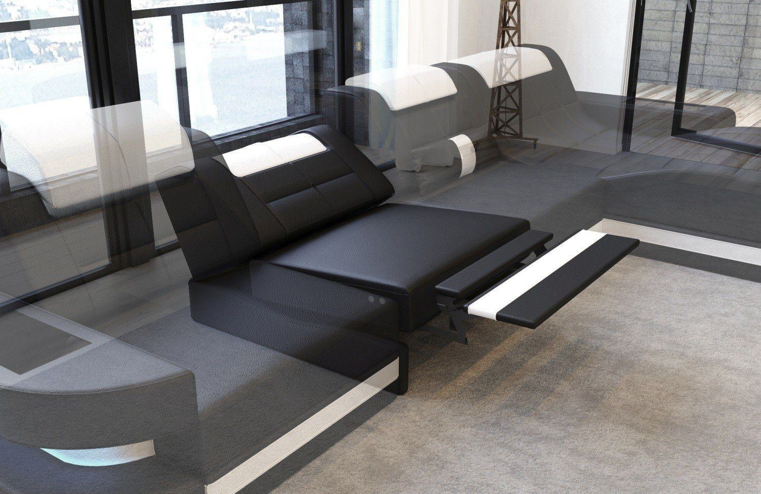 moderne sofa wohnlandschaft matera xxl in leder. Black Bedroom Furniture Sets. Home Design Ideas