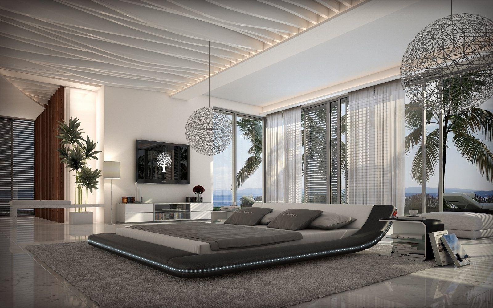 Günstiges Designer Bett Custo mit einer LED Beleuchtung