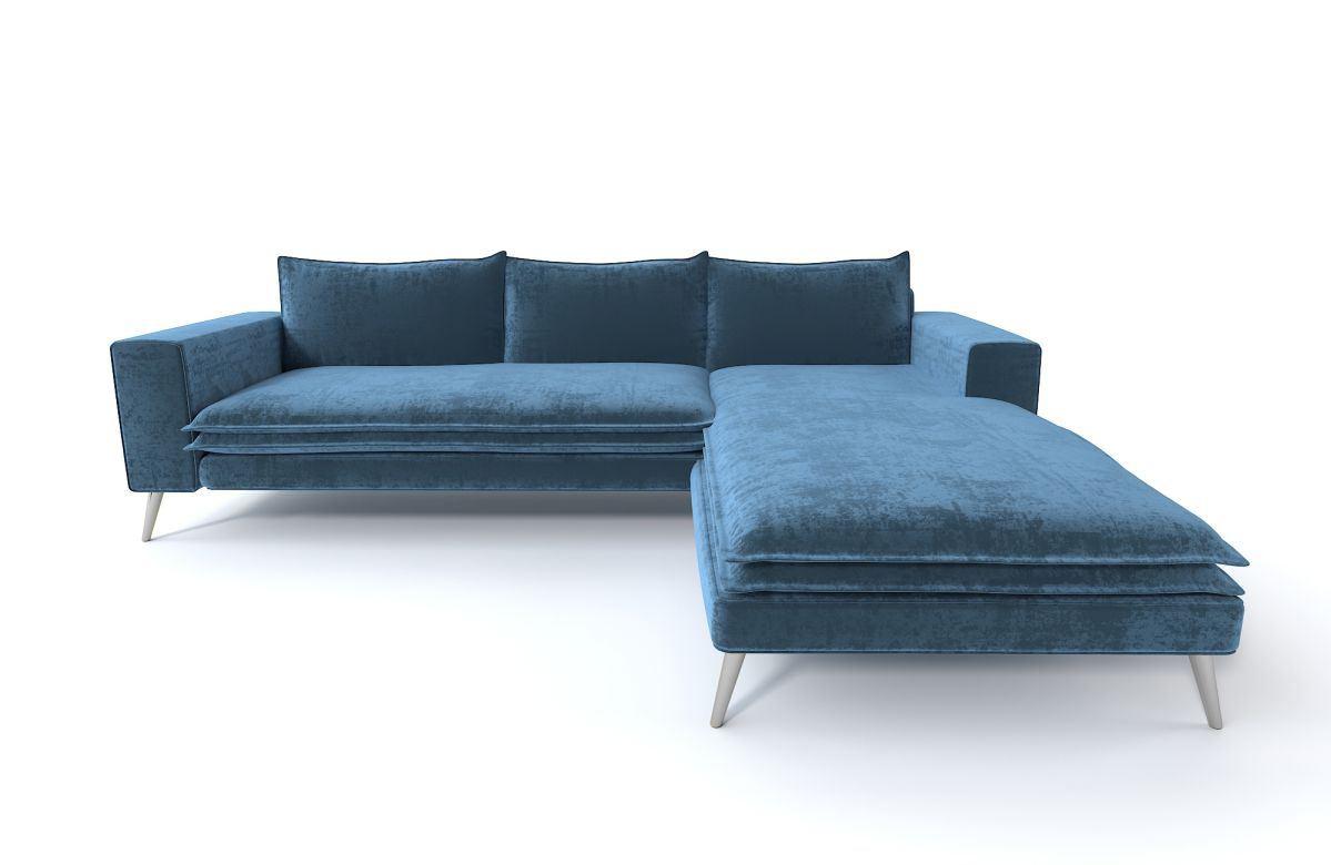 Designer Lounge Sofa Andria Mini in der L Form aus Stoff