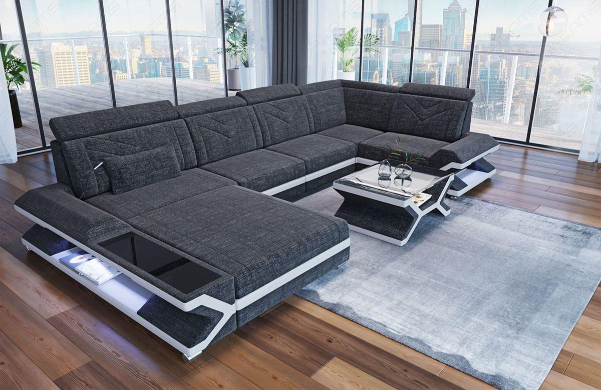 Polster Wohnlandschaft Napoli Designer Sofa in der U Form