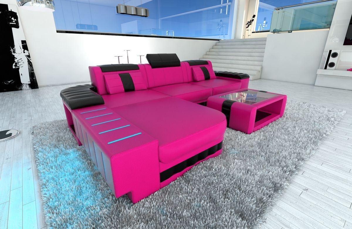 Modernes Sofa Bellagio in L Form als Ecksofa mit ...