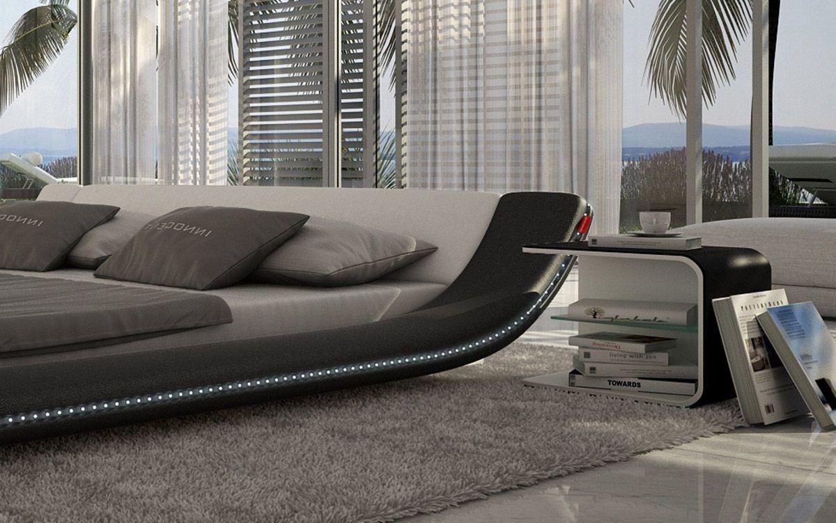 sofas ledersofa design polsterbett custo led betten. Black Bedroom Furniture Sets. Home Design Ideas
