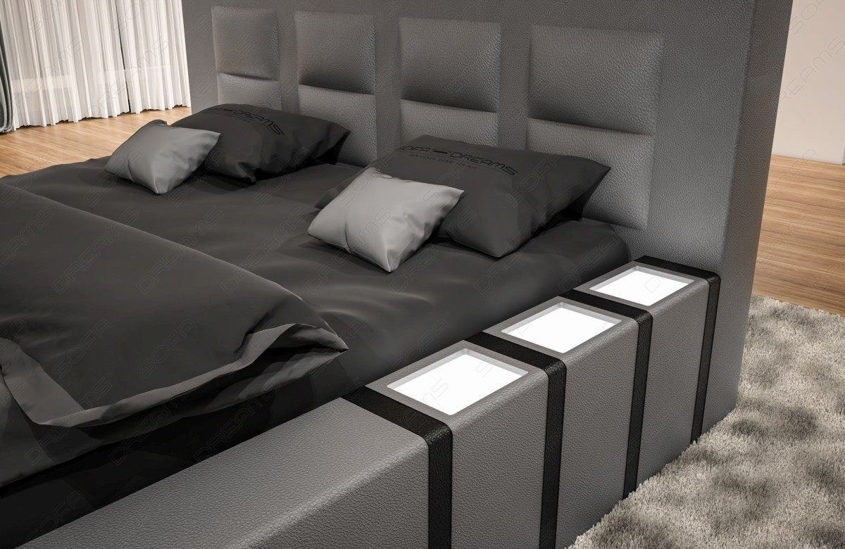 sofas ledersofa luxus boxspringbett asti mit beleuchtung betten g nstig online kaufen. Black Bedroom Furniture Sets. Home Design Ideas