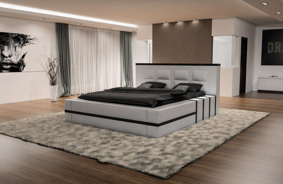 sofas ledersofa boxspringbett asti wei schwarz lagerware g nstig online kaufen. Black Bedroom Furniture Sets. Home Design Ideas