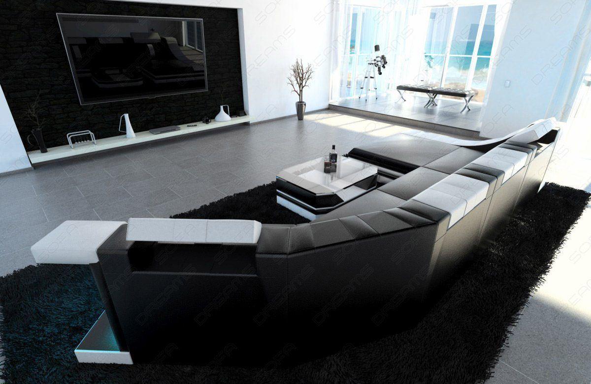 Sofas ledersofa luxus wohnlandschaft turino c form mit - Luxus ledersofa ...
