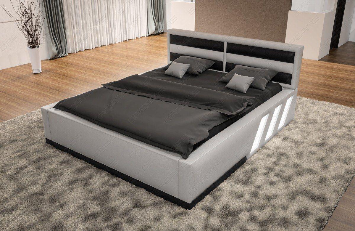 sofas ledersofa boxspringbett apollonia weiss schwarz lagerware g nstig online kaufen. Black Bedroom Furniture Sets. Home Design Ideas
