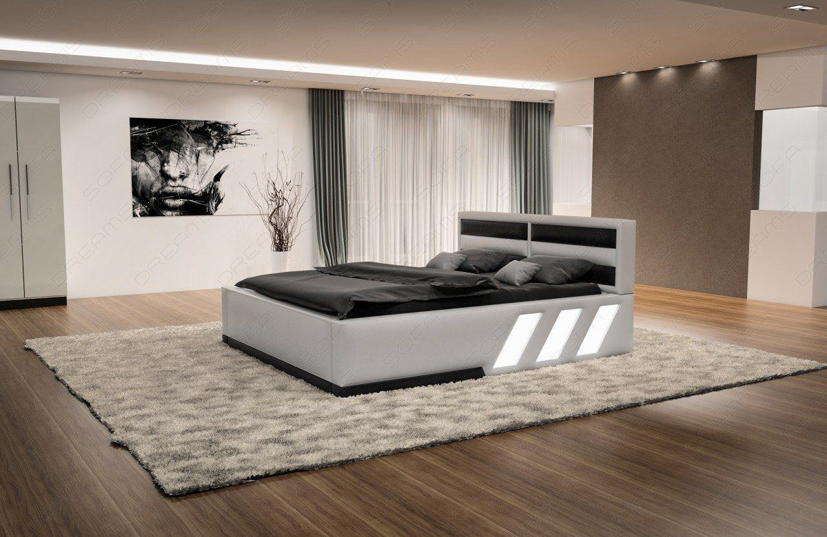 sofas ledersofa boxspringbett apollonia weiss schwarz lagerware g nstig online kaufen. Black Bedroom Furniture Sets. Home Design Ideas