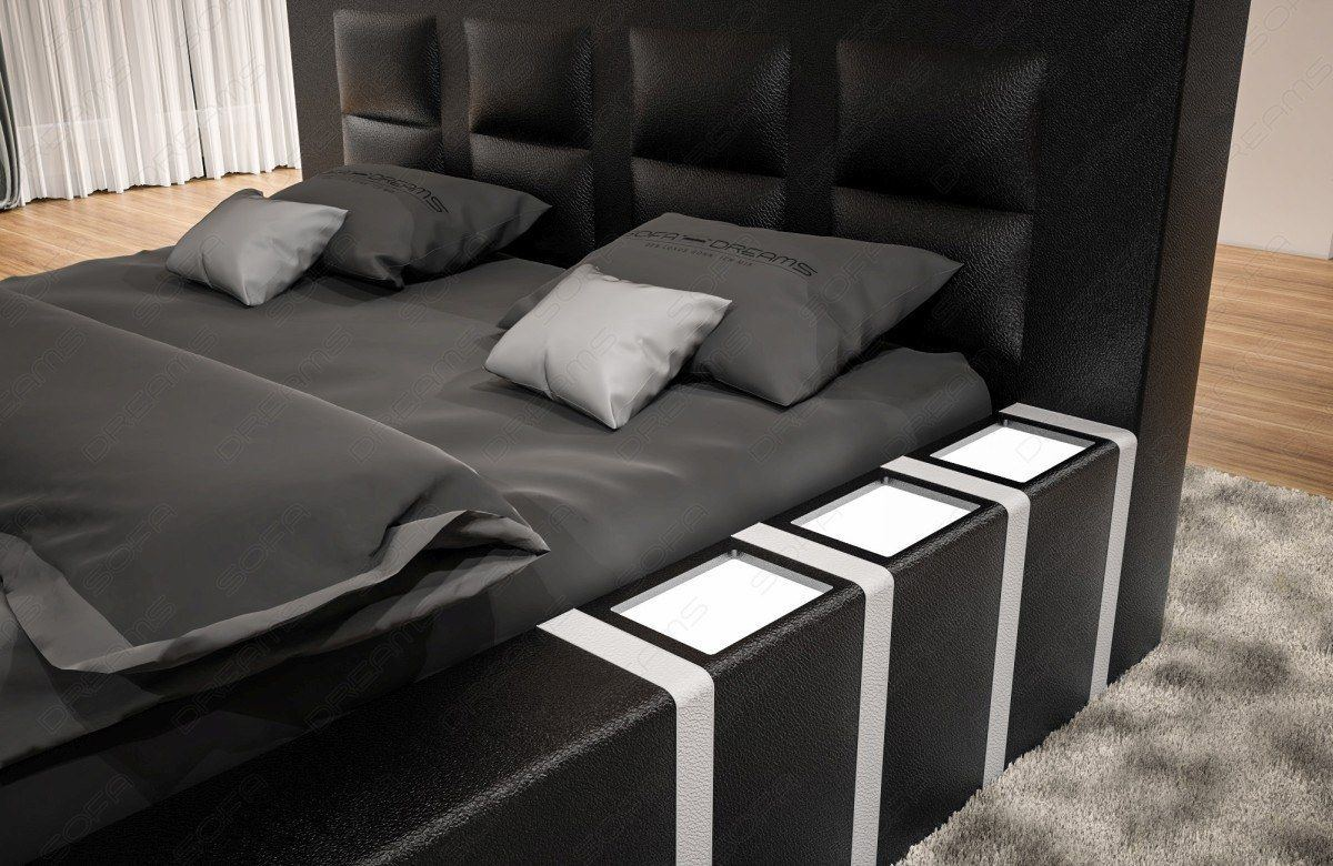 sofas ledersofa boxspringbett asti schwarz weiss. Black Bedroom Furniture Sets. Home Design Ideas