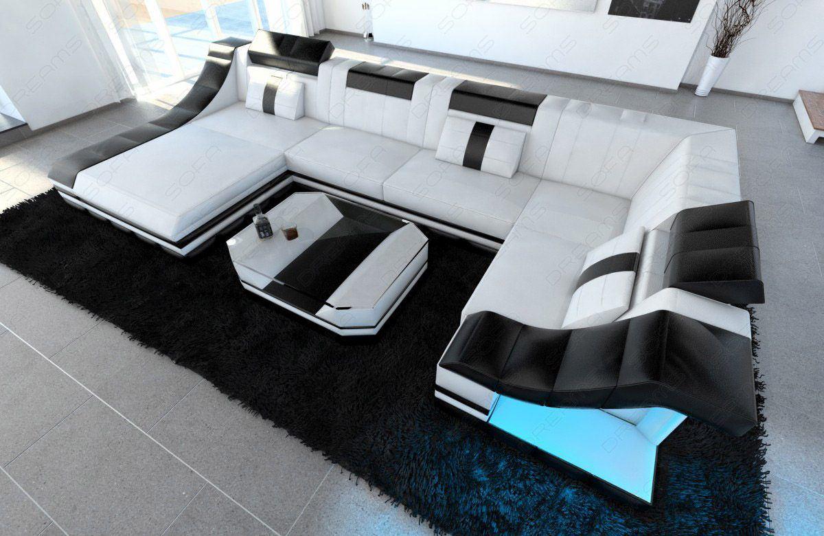 sofas ledersofa luxus wohnlandschaft turino u form. Black Bedroom Furniture Sets. Home Design Ideas