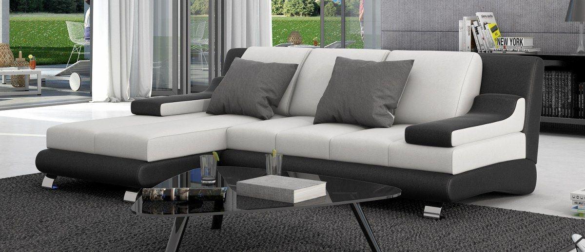 sofas ledersofa leder couch sevine chromf e sofas. Black Bedroom Furniture Sets. Home Design Ideas