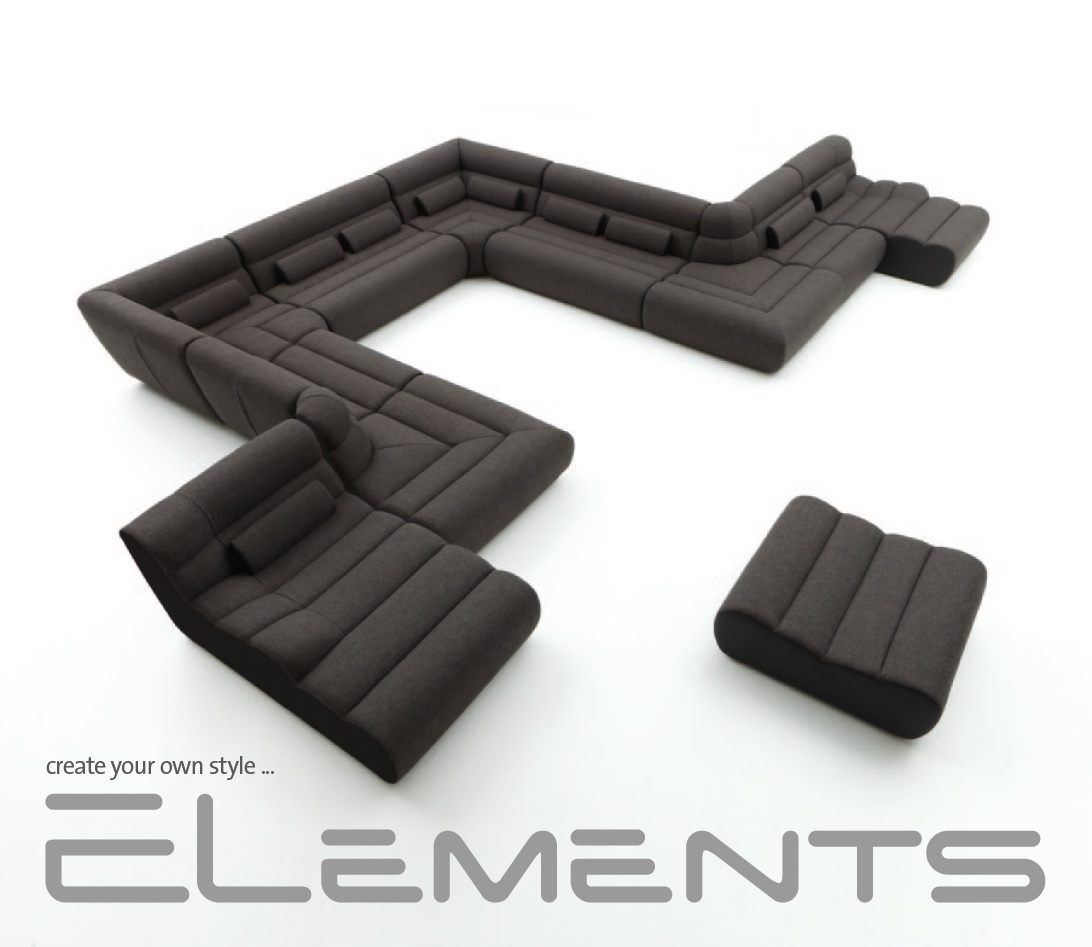 sofas ledersofa wohnlandschaft elements one systemcouch sofas g nstig online kaufen. Black Bedroom Furniture Sets. Home Design Ideas