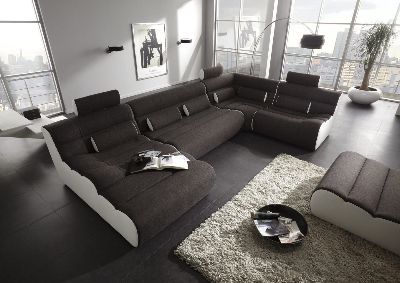 sofas ledersofa funktionssofa elements five. Black Bedroom Furniture Sets. Home Design Ideas
