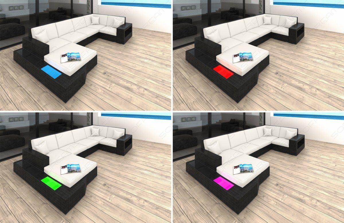sofas ledersofa rattan sofa lounge set messana rattan g nstig online kaufen. Black Bedroom Furniture Sets. Home Design Ideas