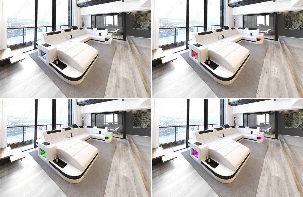 sofas ledersofa design ledersofa wave l form led. Black Bedroom Furniture Sets. Home Design Ideas