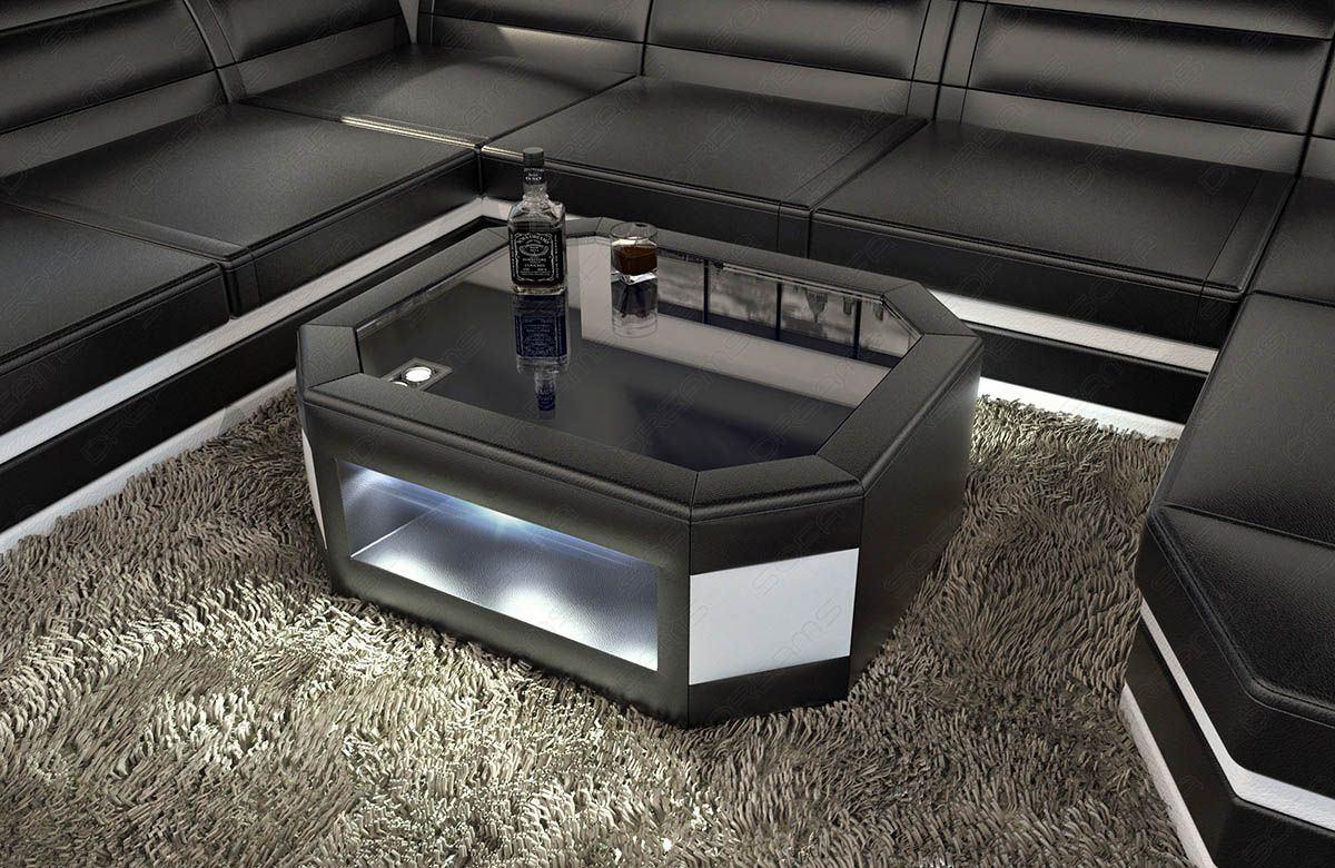 Sofas ledersofa design wohnzimmertisch prato mit led for Wohnzimmertisch bestellen