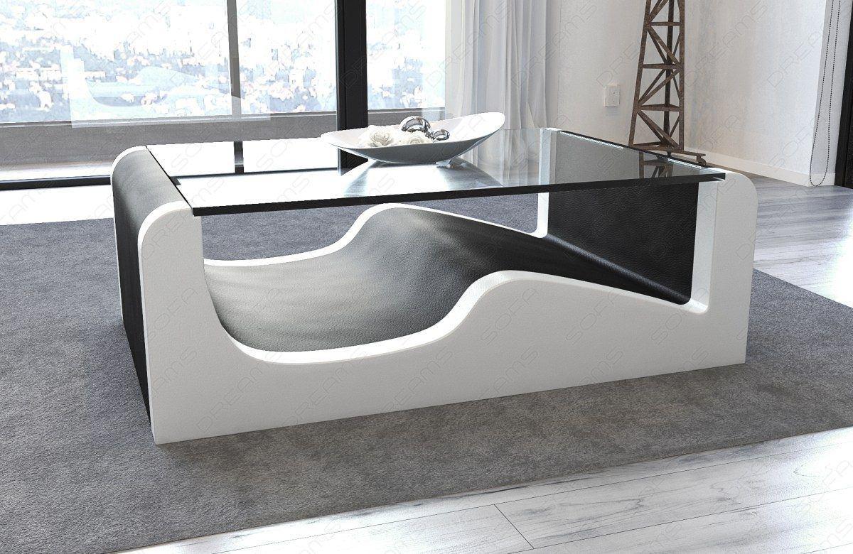 Sofas ledersofa design wohnzimmertisch wave for Wohnzimmertisch l form