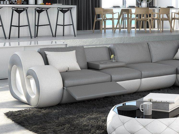 sofas ledersofa sofa wohnlandschaft nesta mit beleuchtung sofas g nstig online kaufen. Black Bedroom Furniture Sets. Home Design Ideas