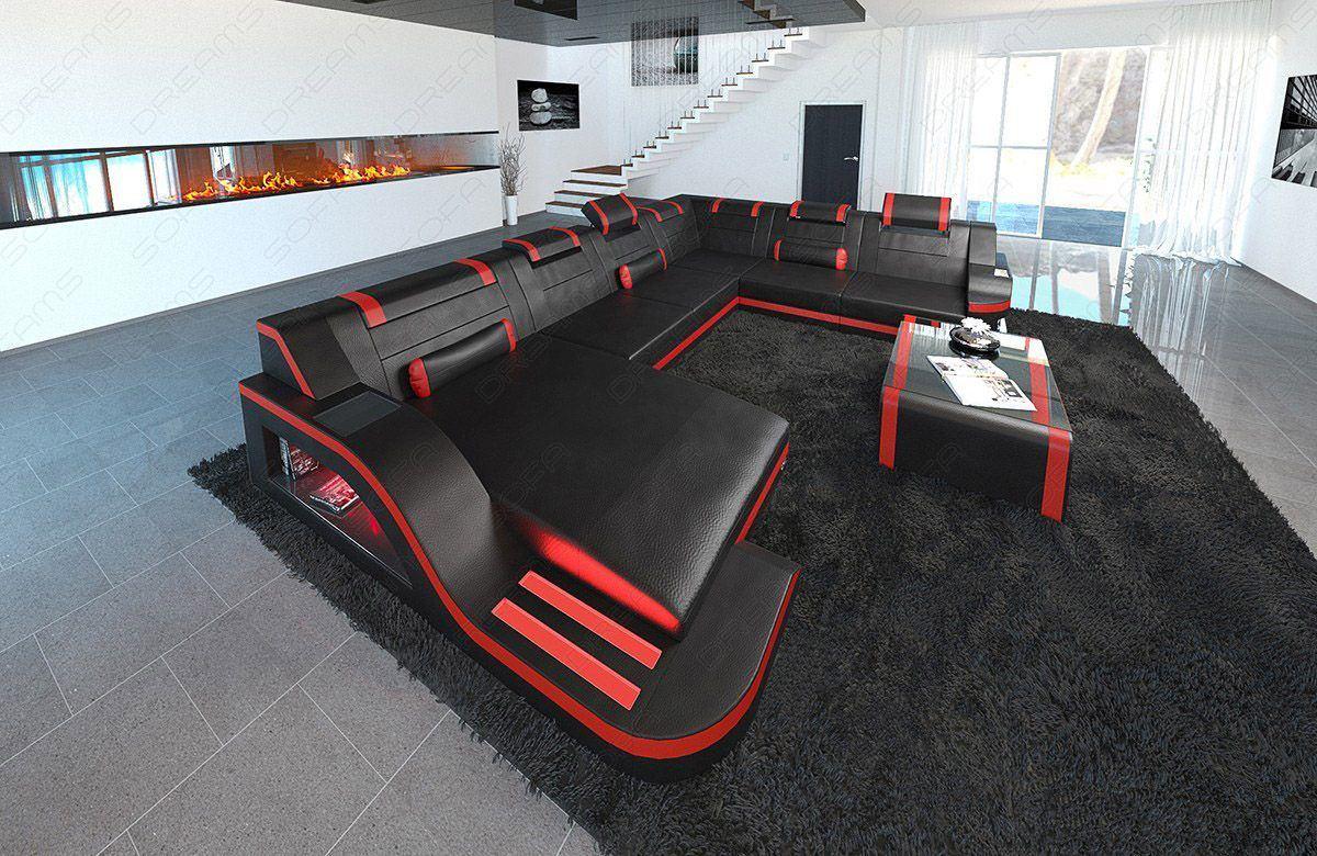 sofas ledersofa xl leder wohnlandschaft palermo xl led sofas g nstig online kaufen. Black Bedroom Furniture Sets. Home Design Ideas