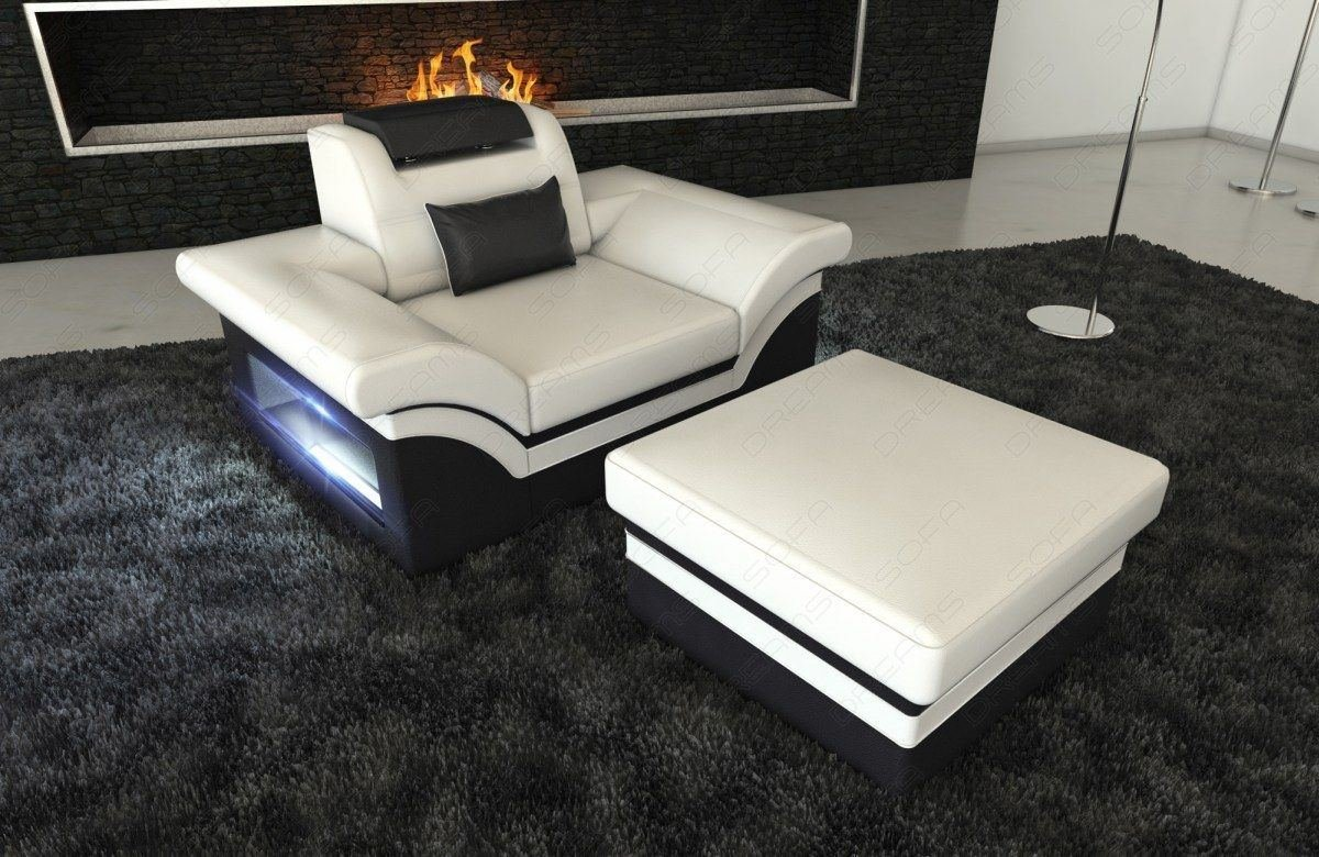 leder sessel monza led. Black Bedroom Furniture Sets. Home Design Ideas