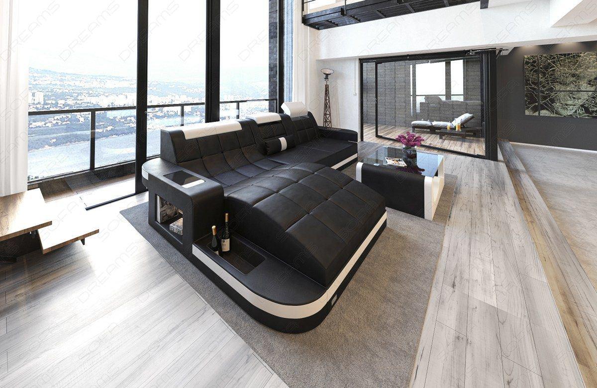 sofas ledersofa design ledersofa wave l form led sofas g nstig online kaufen. Black Bedroom Furniture Sets. Home Design Ideas