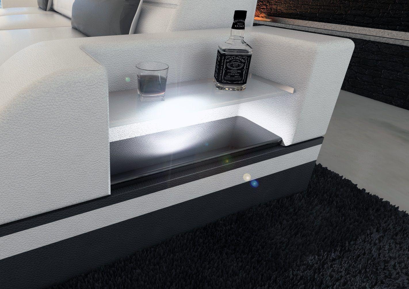 sofas ledersofa wohnlandschaft monza u form sofas. Black Bedroom Furniture Sets. Home Design Ideas