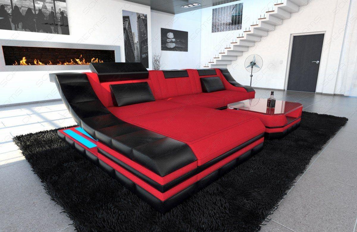 sofas ledersofa stoffcouch turino l form led sofas. Black Bedroom Furniture Sets. Home Design Ideas