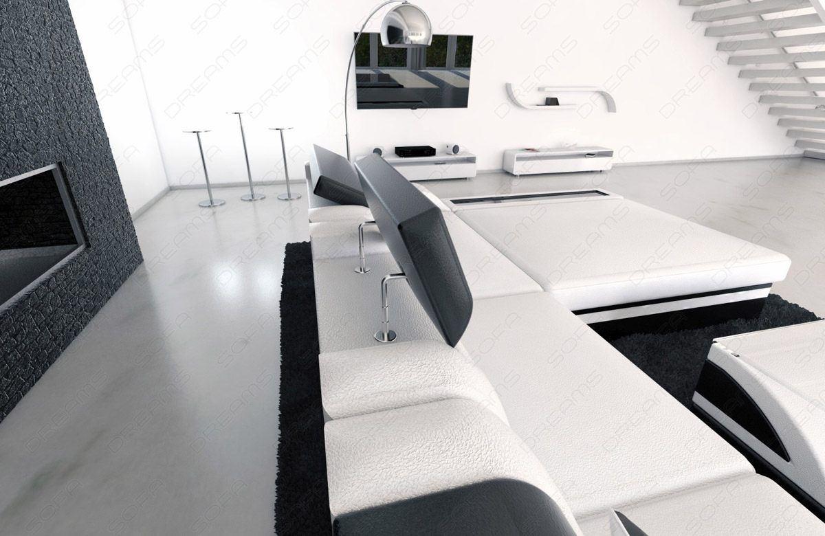 sofas ledersofa design wohnlandschaft xxl enzo pink schwarz g nstig online kaufen. Black Bedroom Furniture Sets. Home Design Ideas