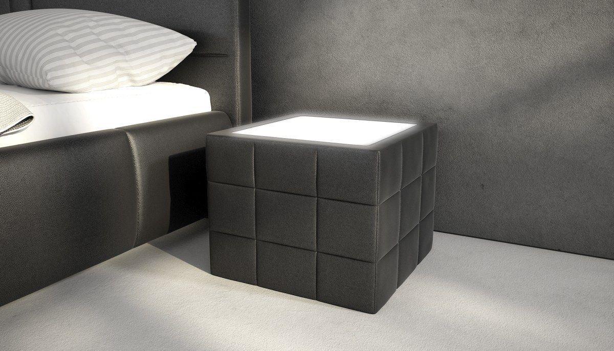 sofas ledersofa nachttisch night mit beleuchtung. Black Bedroom Furniture Sets. Home Design Ideas