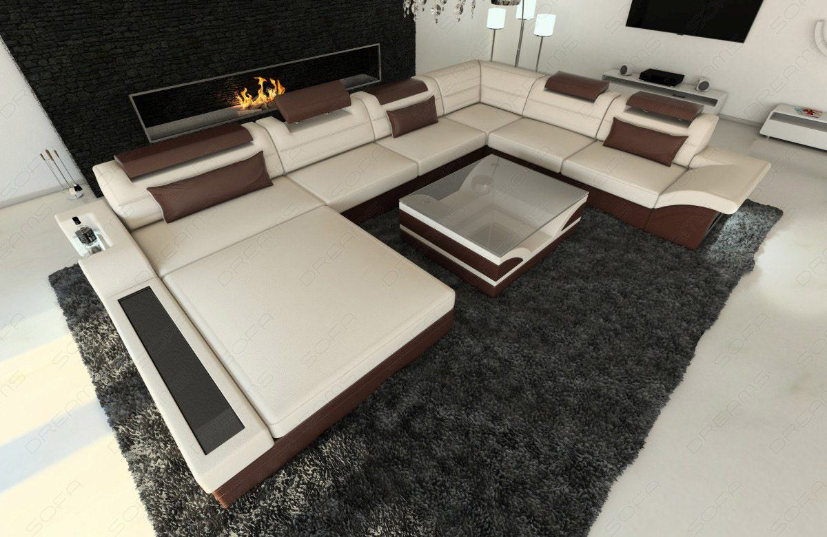 sofas ledersofa stoff wohnlandschaft mezzo xxl. Black Bedroom Furniture Sets. Home Design Ideas