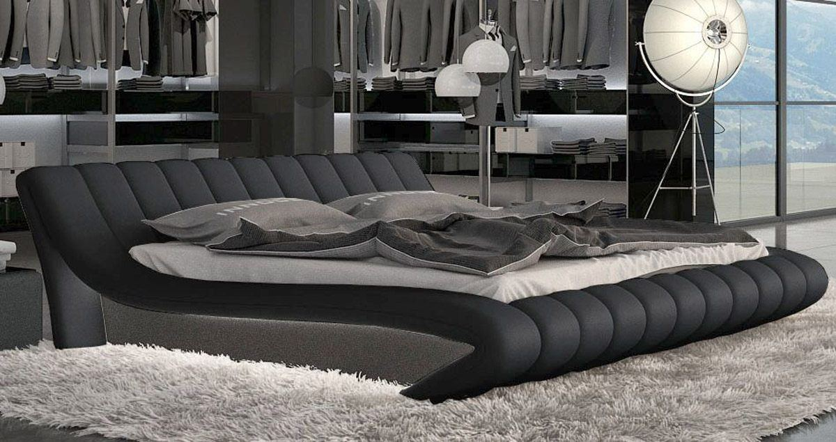 sofas ledersofa designerbett ferrara mit led betten g nstig online kaufen. Black Bedroom Furniture Sets. Home Design Ideas