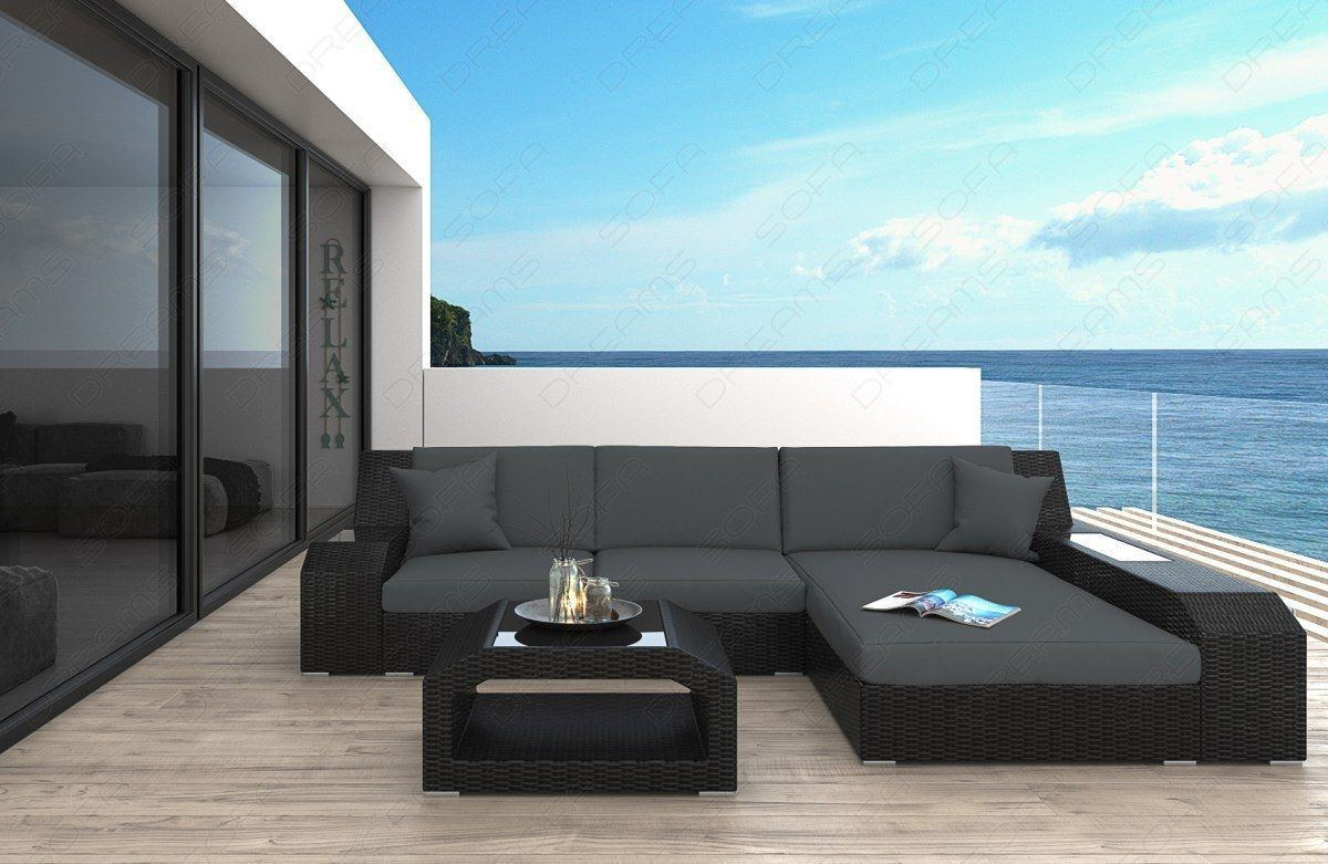 sofas ledersofa rattan sofa matera l form mit led beleuchtung lagerware g nstig online kaufen. Black Bedroom Furniture Sets. Home Design Ideas