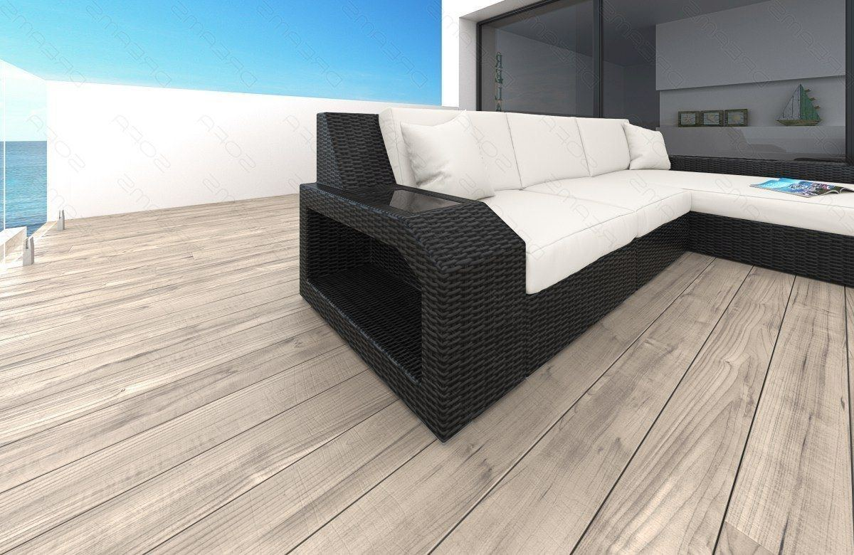sofas ledersofa rattan sofa matera l form mit led. Black Bedroom Furniture Sets. Home Design Ideas