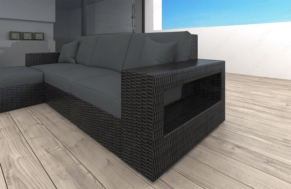 sofas ledersofa rattan sofa messana l form led rattan g nstig online kaufen. Black Bedroom Furniture Sets. Home Design Ideas