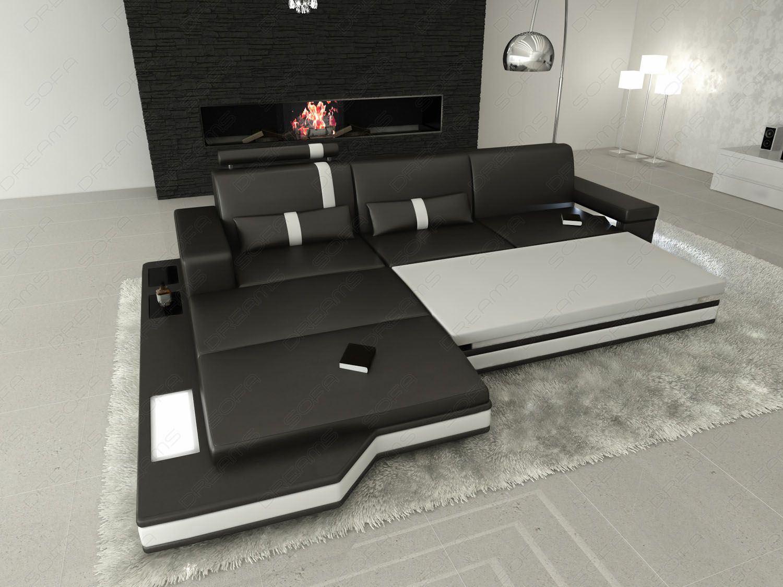 sofas ledersofa stoffsofa mix messana l form sofas. Black Bedroom Furniture Sets. Home Design Ideas