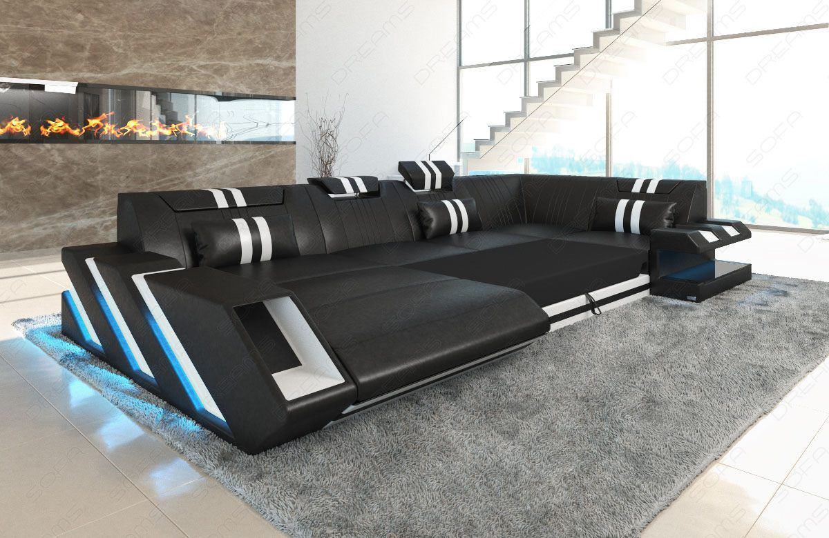ledercouch apollonia u form led. Black Bedroom Furniture Sets. Home Design Ideas