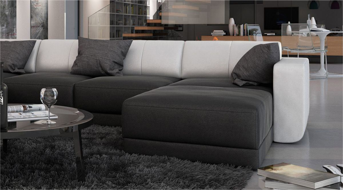 sofas ledersofa ecksofa ferragamo u form sofas. Black Bedroom Furniture Sets. Home Design Ideas