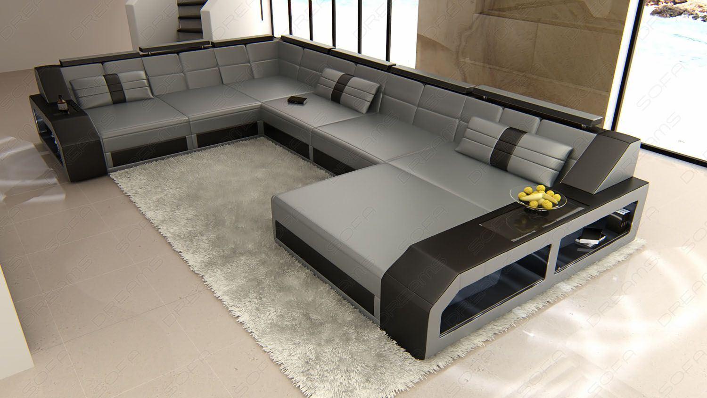 Big sofa u form das beste aus wohndesign und m bel for Xxl wohnlandschaft leder ottomane