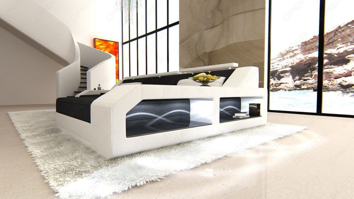 polster couch arezzo led l form. Black Bedroom Furniture Sets. Home Design Ideas