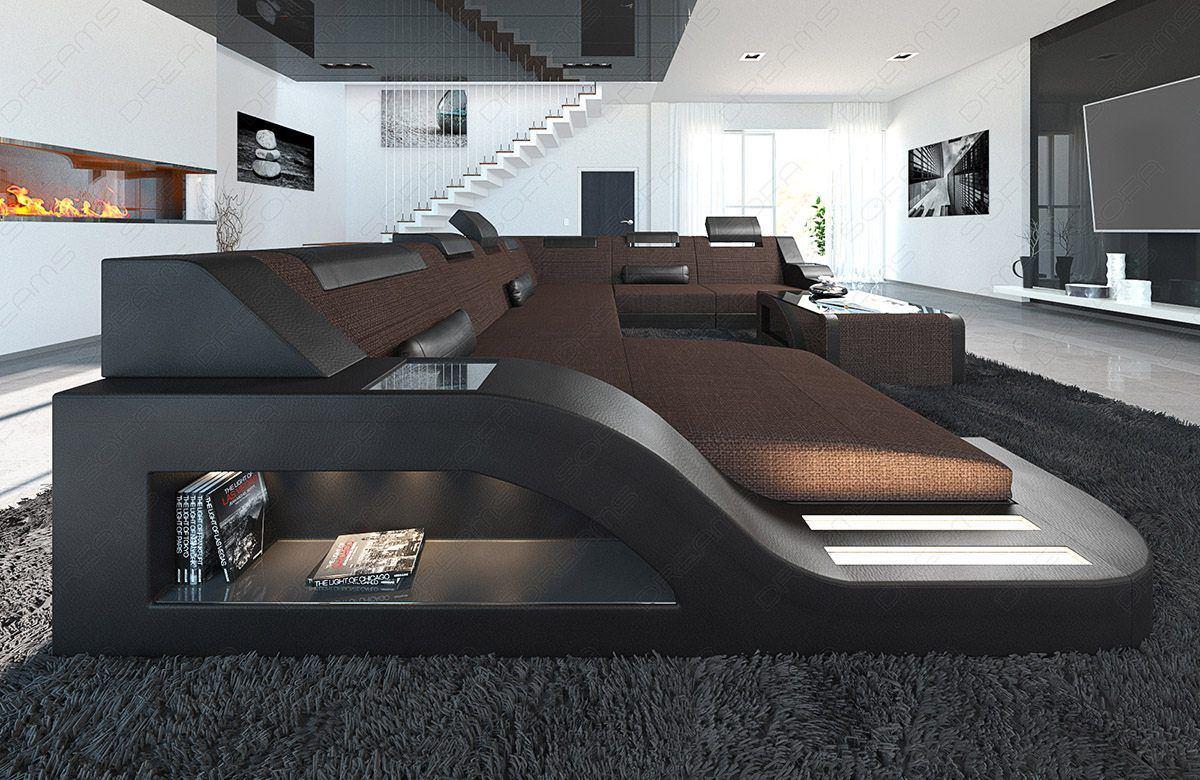 sofas ledersofa designer stoff wohnlandschaft palermo xl led sofas g nstig online kaufen. Black Bedroom Furniture Sets. Home Design Ideas