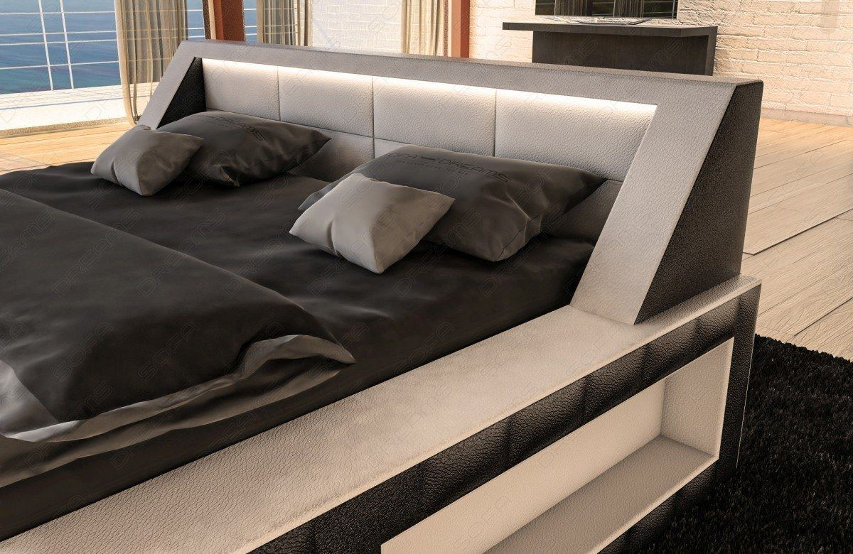 sofas ledersofa wasserbett matera komplett set schwarz weiss lagerware g nstig online kaufen. Black Bedroom Furniture Sets. Home Design Ideas