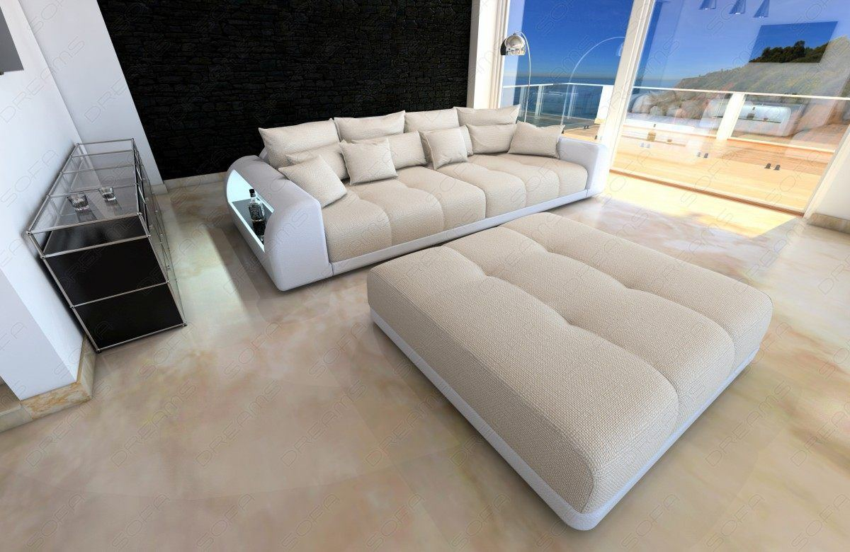 ledersofa bigsofa miami beige big sofas g nstig online kaufen. Black Bedroom Furniture Sets. Home Design Ideas