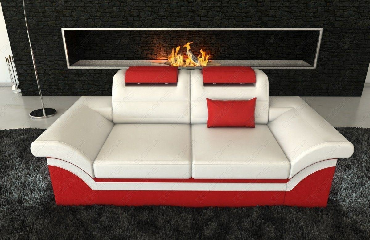 2 sitzer leder sofa monza led. Black Bedroom Furniture Sets. Home Design Ideas