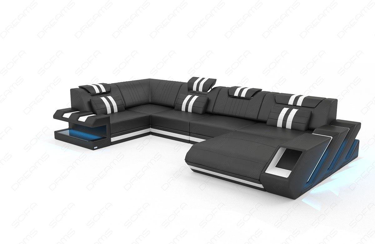 wohnlandschaft apollonia u form in leder sofa g nstig kaufen. Black Bedroom Furniture Sets. Home Design Ideas