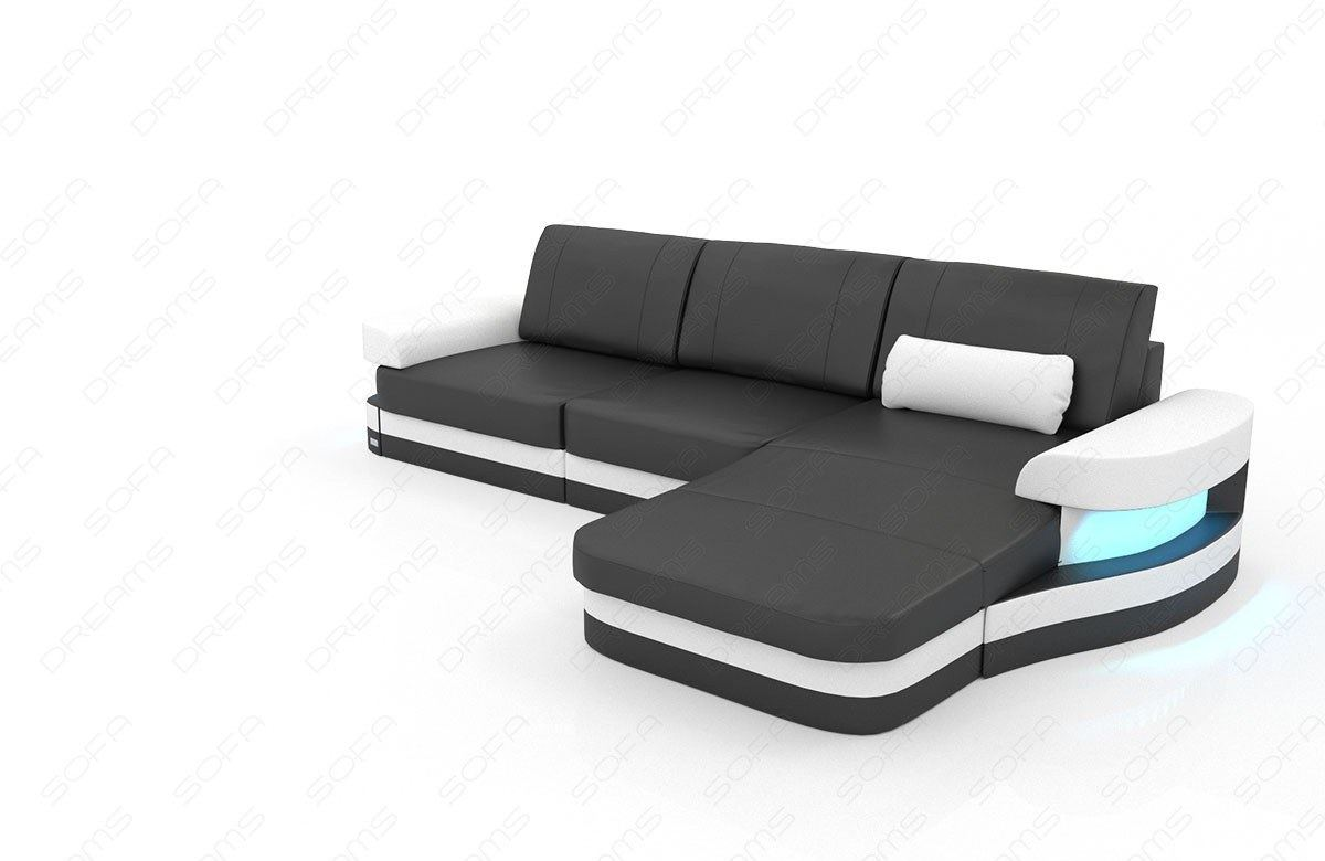 ledersofa modena in l form als modernes ecksofa mit. Black Bedroom Furniture Sets. Home Design Ideas
