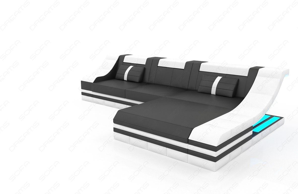 ledersofa turino l form ecksofa mit ausziehbarer. Black Bedroom Furniture Sets. Home Design Ideas
