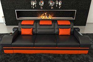 Designer Sofa als 3 Sitzer in Echtleder oder auch mit echten Büffelleder