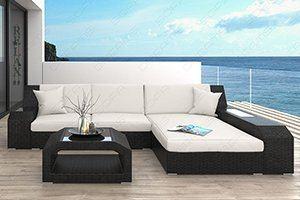 Luxus Rattanmöbel wie diese L Form Sofas für ihren garten oder die Terrasse